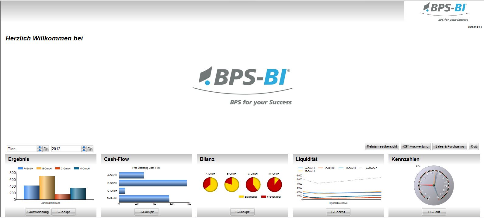 Screenshot: BPS-BI Welcome Screen