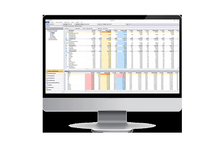 Screenshot: Benutzeroberfläche <strong>BPS-ONE®</strong> - Essenziell für Businessplanung