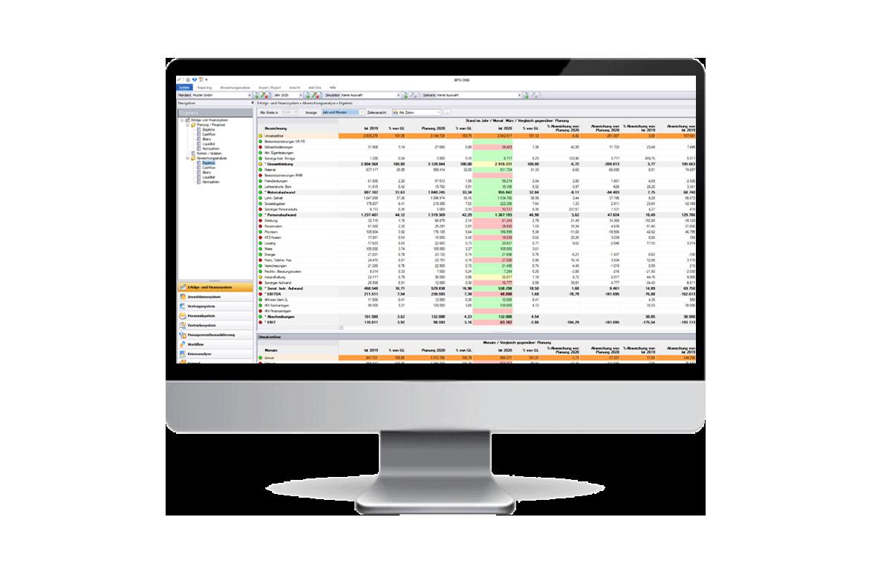 Screenshot: Benutzeroberfläche BPS-ONE® - Reportings erstellen